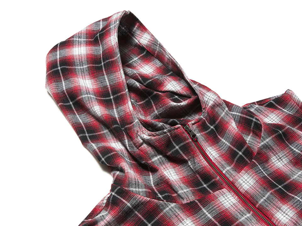 J-1702_Plaid Hooded Vest-05